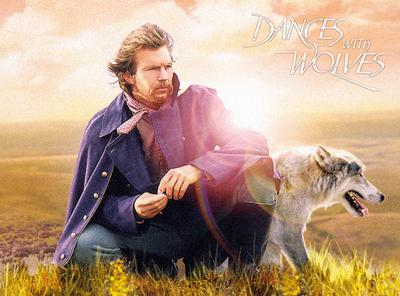 Dances with Wolves, 1990, Kevin Costner, Mary McDonnell, Graham Greene