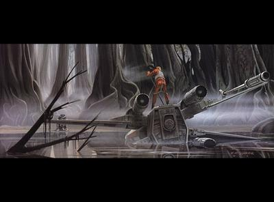 Ralph McQuarrie - Empire Strikes Back - Dagobah