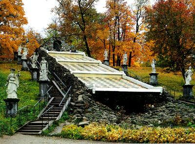 The Chess Mountain, Peterhof, St. Petersburg,