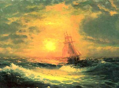Aivazovsky - Sunset at Sea
